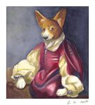 the noble corgi by mercurypale