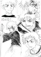 Kurosaki Ichigo Collage! by hollywood714