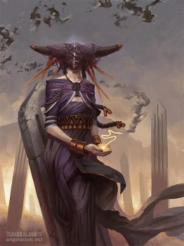 Penemue, Angel of the Written Word by PeteMohrbacher
