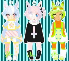 Usamimi Basetest Adoptables (CLOSED) [AUCTION] by lifeforce10