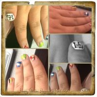 Harry Potter Hogwarts Inspired Nail Art. by KathyLioncourt