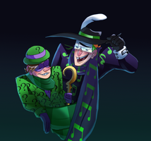 Riddler And Music Meister Scarf Season by pink-ninja