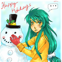 happy holidays, late ..lol by chibicomadreja