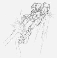 Samus Blast Sketch by rebel-penguin
