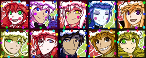 FNAF SL Christmas Icons by Wolf-con-f