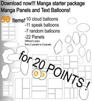 MANGA STARTER PACKAGE-PANELS AND BALLOONS by Saviroosje