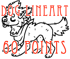 dog lineart - 60 points by levitzky