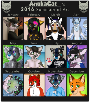.: Summary of Art 2016 :. by AnukaCat