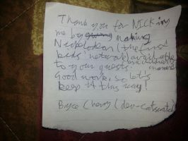 Thanks for NICKing me note by dev-catscratch