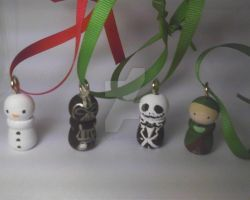 Peg doll Ornaments by LilPKCreations