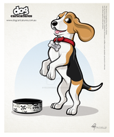 Beagle Dog Caricature by timmcfarlin