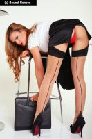 Secretary in Stockings by Jasmine-Sinclair