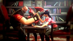 [Request] Armwrestling by PsychoLinChan