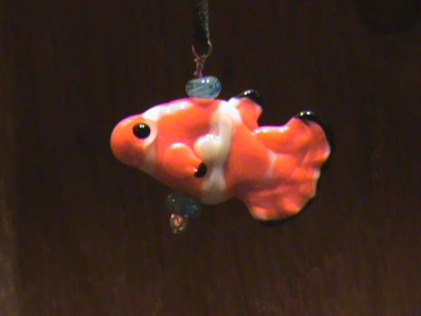 Sculpted Fish Pendant - Clown by TWiG420
