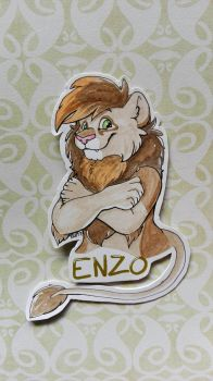 Enzo cut-out badge by raevenilonka