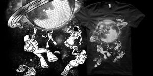 Intergalactic Disco t shirt by biotwist