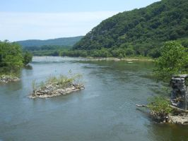 Potomac River at Harpers Ferry by Urceola
