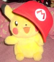 Pikachu with Mario's Hat 2 by MarioBlade64