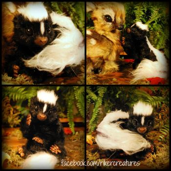 Life-Size, Realistic Baby Skunk -Poseable Creature by RikerCreatures