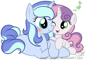Gift: Night Whispers and Sweetie Belle by Diigii-Doll