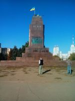 Lenin in Square of Freedom, Kharkiv by FCSD