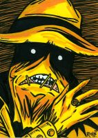 Sketchcard Scarecrow Lantern by RichBernatovech