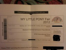 MLP Con in Orlando for 2012 Ticket by BlackFoxFurry7