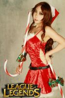 candy cane Miss Fortune by lsjbio92