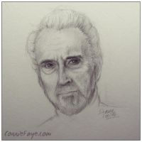 06.11.2015 Daily Sketch - Sir Christopher Lee by ConnieFaye