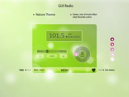 Radio application GUI by plarot