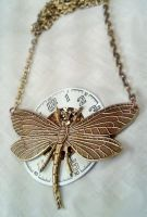 Steampunk Dragonfly Necklace by SteamDesigns