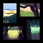 Landscape Studies by GreenMangos