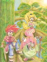 Secret of Mana Print - COLORED by ArwingPilot114