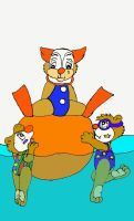 swimming clowns by 101boy