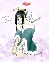 Lazy coloring of Haku by chuwei