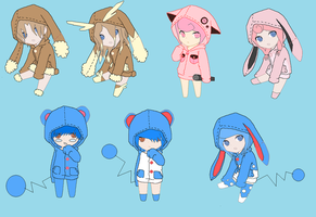 Pokemon Hoodie Adopts 4 [Closed] by ReinFalling
