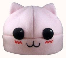 Pink Kitty Hat by TheBunnyCafe