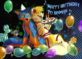 Happy Birthday RinMan! by Skeleion
