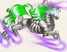 Unicorn Ghost by angelandadditude
