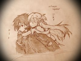 Kirito and Asuna(Sword Art Online) by theodorustoha