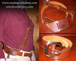 Sam Browne Inspired Belt Set by Steampunked-Out