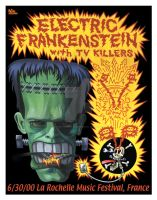 Electric Frankenstein Poster2 by firehazzard-designs
