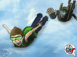 Skydiving Prowler by TaintedTamer