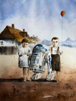 R2D2 and his friend from old Silesia by sanderus