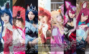 My ahri all skin cosplay photobook by Julia-MiFei