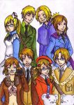 Hetalia - F.A.C.E ... and Kumajirou by nightrainwhitesteel