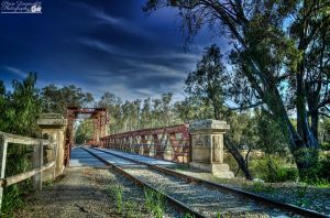 Looking Over The Tocumwal Railway Bridge by djzontheball