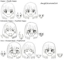 Anime Faces by AngelKurumi14