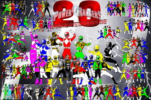 Power Rangers 20 Year Anniversary by rangeranime