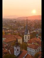 Sunset over Ljubjiana by GMCPhotographics